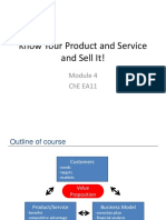Module 4 Know Your Product and Service