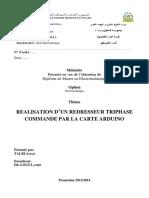 REALISATION D'UN REDRESSEUR TRIPHASE COMMANDE PAR LA CARTE ARDUINO
