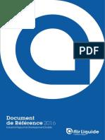 Document de Référence 2016 - Incluant le Rapport de Développement Durable - Air Liquide