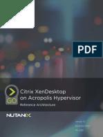 Citrix Xendesktop on Acropolis Hypervisor
