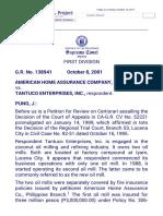 American Home Assurance v Tantuco
