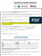 Registration Form for IATA Dangerous Goods Seminar - Nov 10, 2017