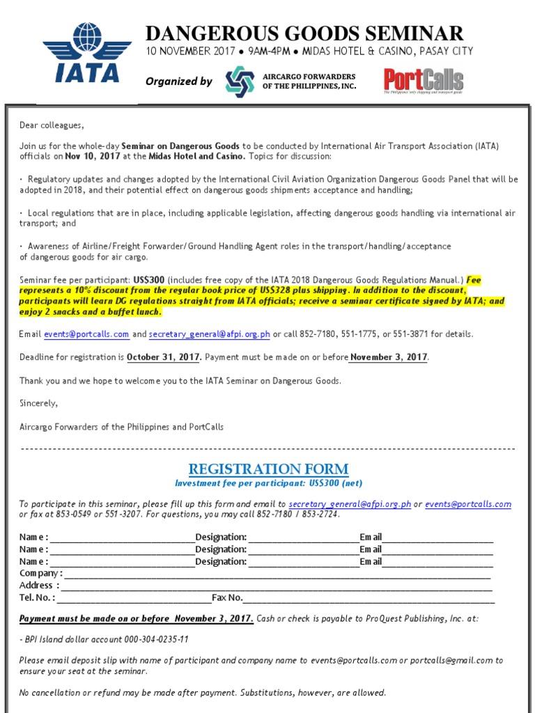 iata membership form