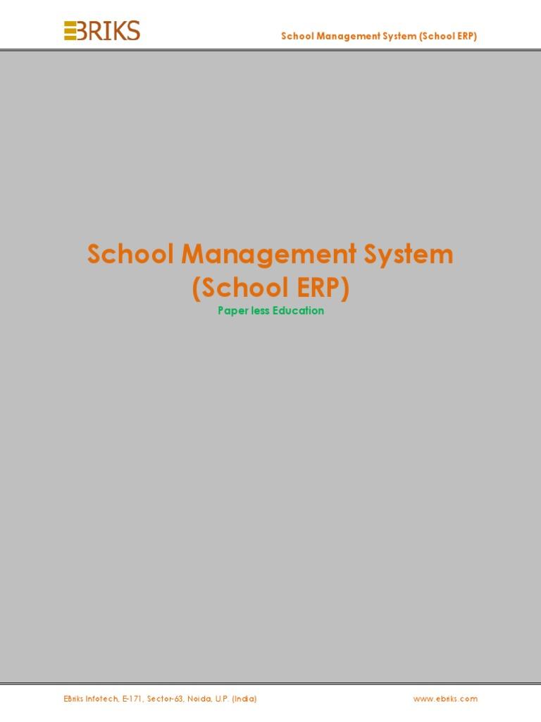 School Management System   Enterprise Resource Planning