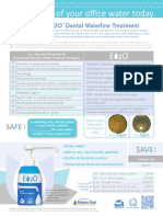 E2O Dental Waterline Treatment Sell Sheet 2013