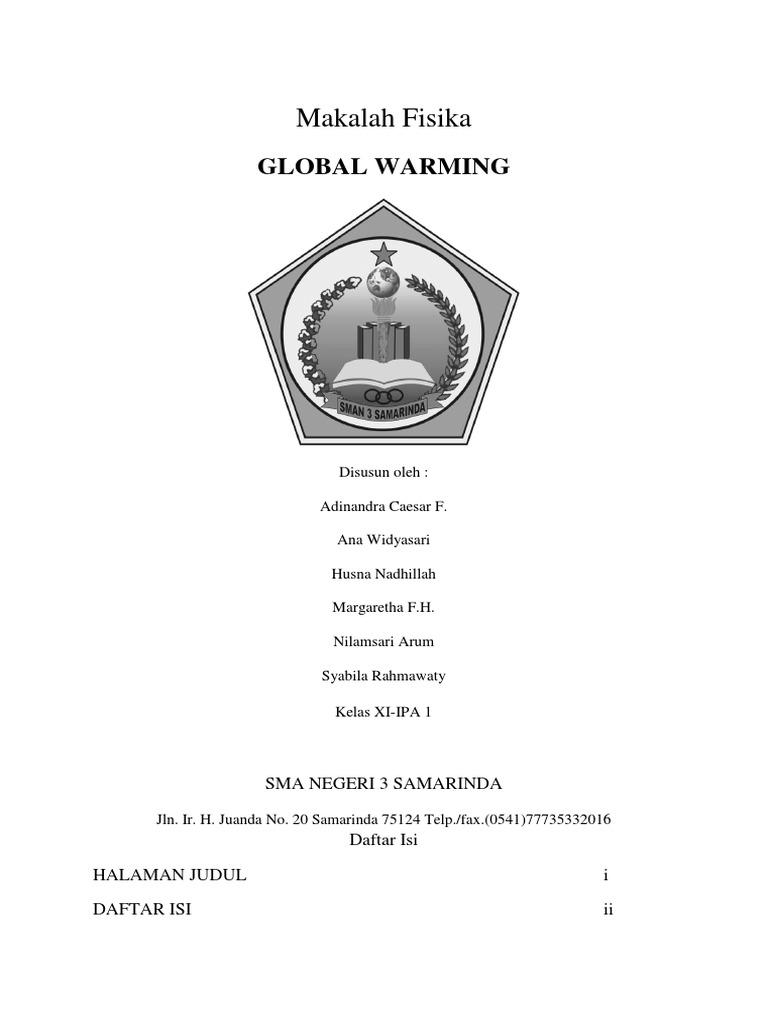 Makalah Fisika Pemanasan Global Ilmusosial Id
