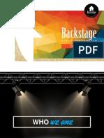 BACKSTAGE EVENT ORGANIZER Company Profile