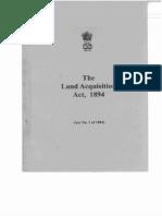 Land Aquisition Act 1894
