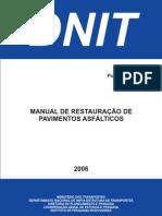 Manual de Restauracao ASFALTO DNIT