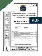 Soal Matematika Teknologi Kelas XI Paket 24(FIX)