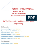 Ece Department - ANNA UNIVERSITY Important Question and Answers- Regulation 2013,2017 - STUDY MATERIAL, Notes