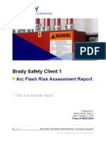 Arc Flash Risk Assessment Sample Report