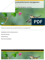 Real Time Planning and Performance Management