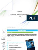 Evvolutions Technologies India Pvt. Ltd.  Portfolio