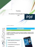 Evvolutions Technologies India Pvt. Ltd.  Portfolio