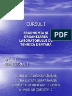 Cursul 1 Ergonomia in Tehnica Dentara