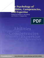 Stenberg and Grigorenko (2003) the Psychology of Abilities, Competencies, And Expertise