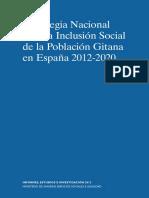Estrategia Nacionales Nacional para la Inclusión Social de la Población  Gitana de España