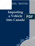 Import a Vehicle Into Canada - Canada Border Services Agency