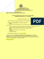 Atividade Avaliativa Ap1-Pcn Ensino Fundamental II