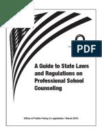 School Counseling Regs 2012