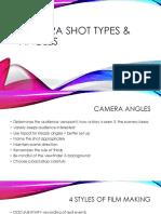 camera shot types   angles