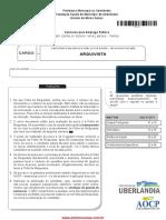 prova arquivista concurso FUNDASUS 2015
