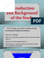 Introduction and Background of the Study