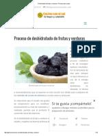 Deshidratado de frutas y verduras ▶ Proceso paso a paso