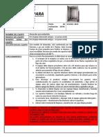 Ficha de Seguridad Para Ahumador (Ahumado)