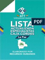 Lista de Medicos Caja Cordes