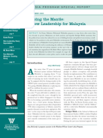 Passing the Mantle a New Leadership for Malaysia[Asia Special Report][Sep-2003-No.116]
