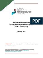 Investigator Community Recommendations