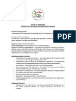 TERMS OF REFERENCE TRAINER FOR EMERGENCY PREPAREDNESS PLANNING