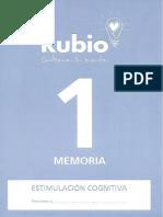 Cuadernillo Rubio Memoria 1