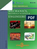 Mechanics, Materials Science & Engineering Journal  vol 2