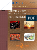 Mechanics, Materials Science & Engineering Journal  Vol-9 Iss-1
