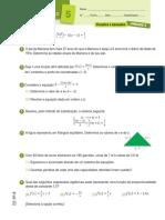 11. Equações e Funções - Ficha de Desenvolvimento