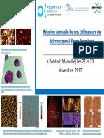 Programme Réunion Utilisateurs Bruker - Polytec - 2017