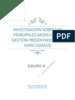 Investigacion Sobre Los Principales Modelos de Gestión Presentados Por Juan Casasús