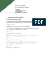 Resolución de Problemas Con Fracciones (AL) Respuestas