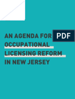An Agenda for Occupational Licensing Reform in NJ