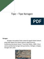 Tipe – Tipe Kerogen