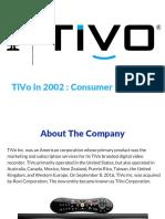 TiVo Case Study Analysis_Group 2