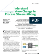 Understand Temperature Change in Process Stream Mixing