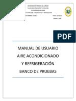 Banco de Pruebas - Manual de Usuario