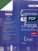 Corrigés Grammaire Progressive du Français 3ème édition