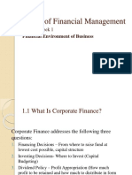 Financial Environment of Business