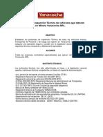 Protocolos de Inspección Técnica de Vehículos Abril 2009