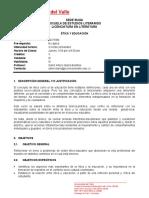 PROGRAMA CURSO Etica y Educacion 2017-2